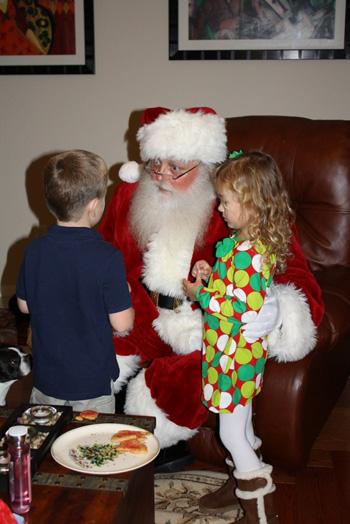 Santa Randy with kids