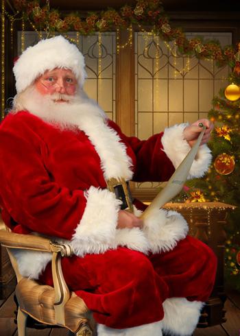 Santa and list-350