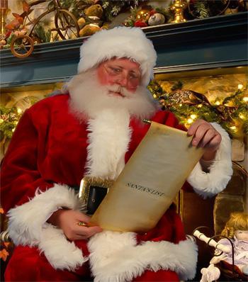 santa with list -350